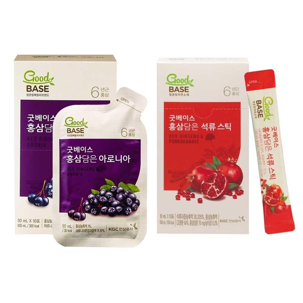 (時時樂)正官庄 高麗蔘野櫻莓飲10入+高麗蔘石榴精華飲-STICK 10入