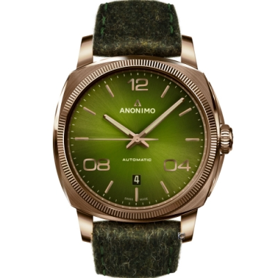 Anonimo EPURATO義式經典機械腕錶-煙燻綠/42mm