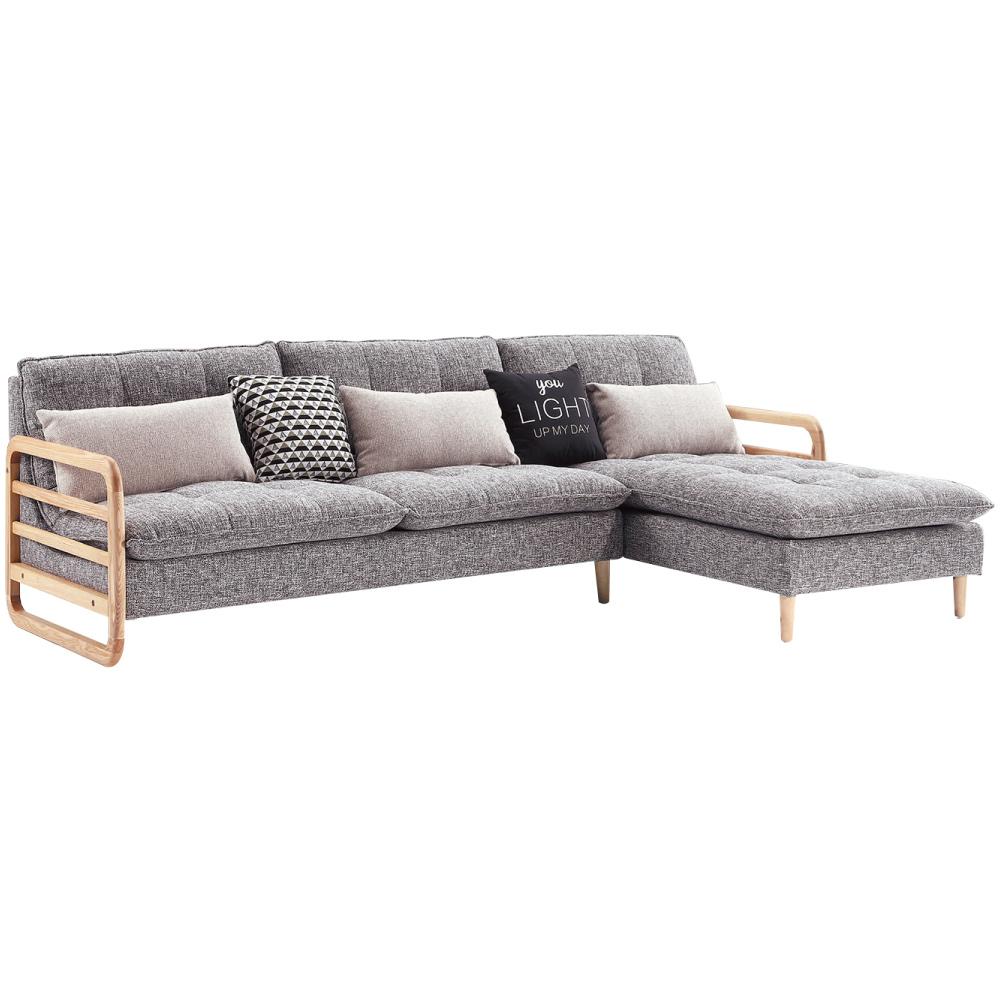 文創集 安卡登北歐風亞麻布L型實木沙發組合-279x185x76cm免組