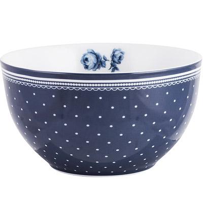 CreativeTops Katie復古藍餐碗(圓點藍15.3cm)