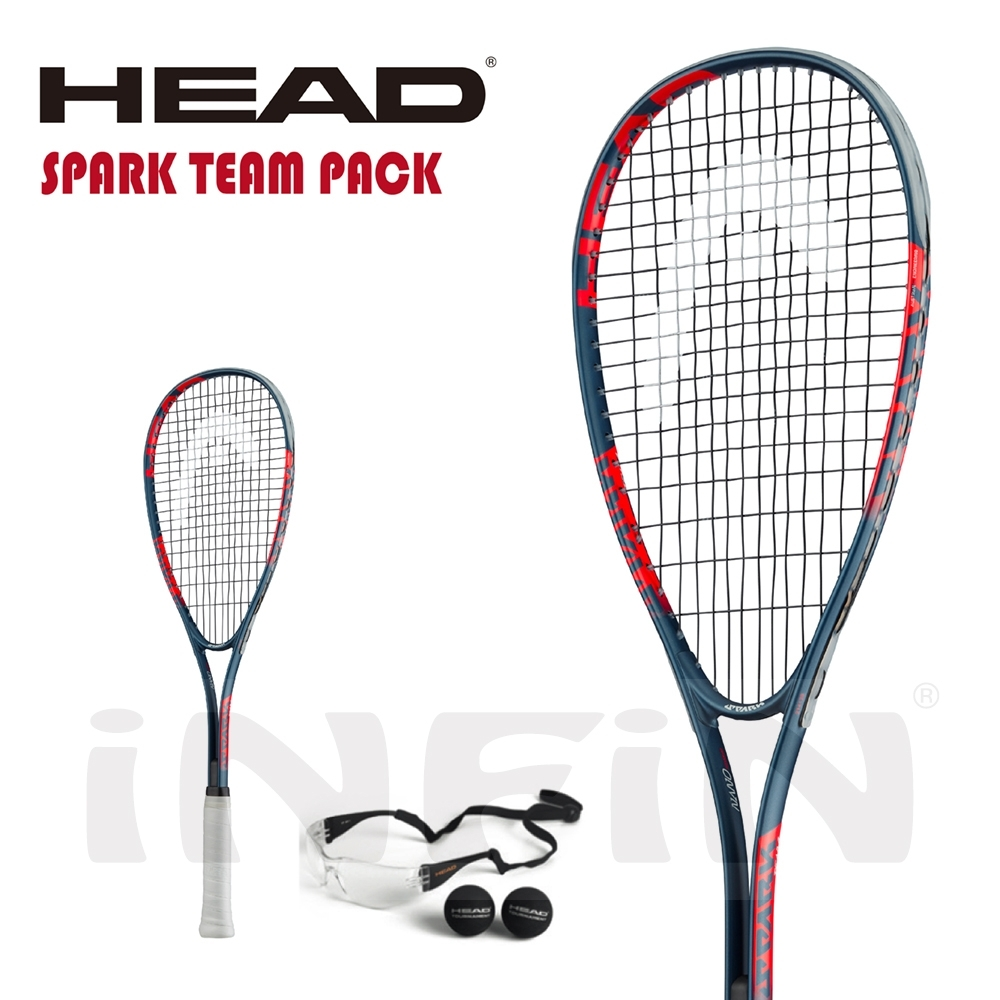 【HEAD】壁球拍 SPARK TEAM PACK 195g 藍/紅 214129