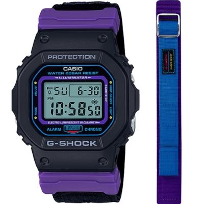 G-SHOCK 經典5600方塊運動錶(DW-5600THS-1D)