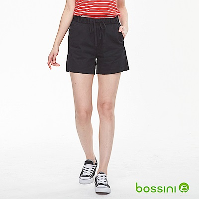 bossini女裝-素色輕便短褲01黑