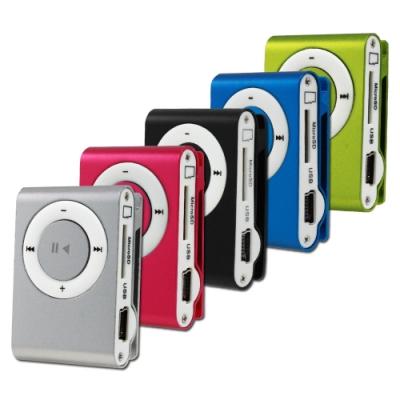 迷你夾子型插卡式MP3隨身聽