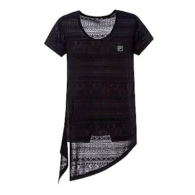 FILA女短袖T恤-黑 5TES-5602-BK