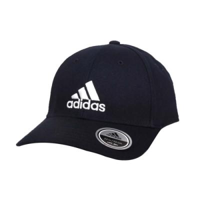 ADIDAS 運動帽-純棉 遮陽 防曬 鴨舌帽 帽子 愛迪達 基本款 棒球帽 FQ5270 丈青白