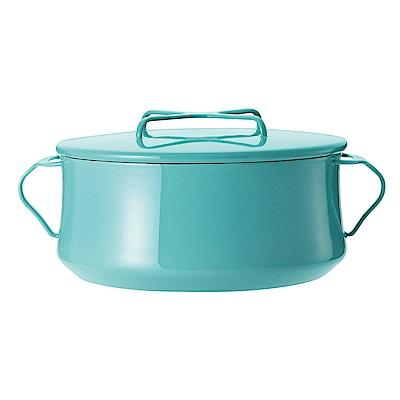 DANSK 琺瑯雙耳燉煮鍋-(藍綠色)