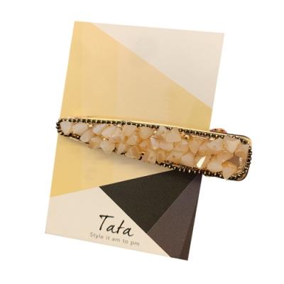 水晶碎鑽長髮夾 共四色 TATA
