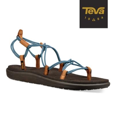 【TEVA】原廠貨 女 Voya Infinity 羅馬織帶涼鞋/雨鞋/水鞋(灰藍色-TV1019622CITA)