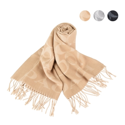 COACH 經典SIGNATURE 羊毛針織圍巾(三色)
