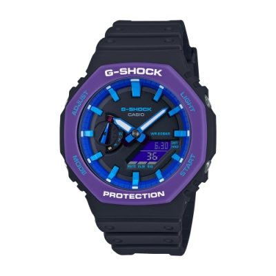 CASIO卡西歐 G-SHOCK 八角型錶殼 GA-2100THS-1A_45.4mm