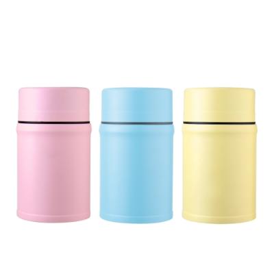 AURA艾樂 316不鏽鋼馬卡龍食物罐附湯匙800ML(3色可選)(快)