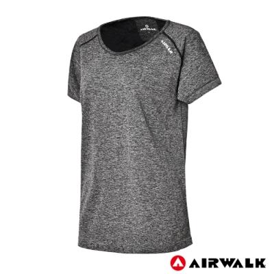 【AIRWALK】女款無縫圓領T-灰色