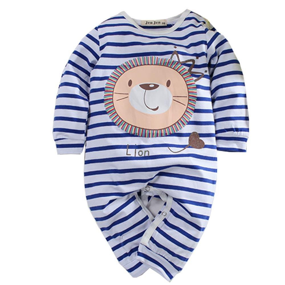 獅子條紋長袖連身衣 k60751 魔法Baby