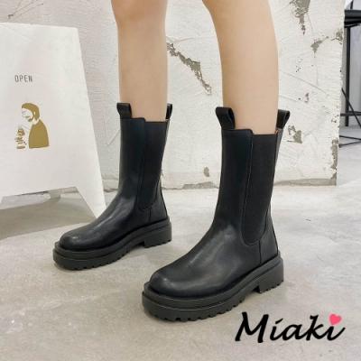 Miaki-中筒靴.網紅穿搭厚底切爾西馬丁靴