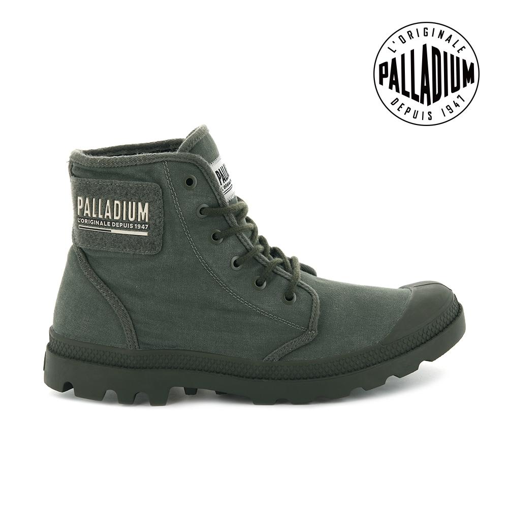 PALLADIUM PAMPA HI TC 2.0高筒帆布靴-男-墨綠灰