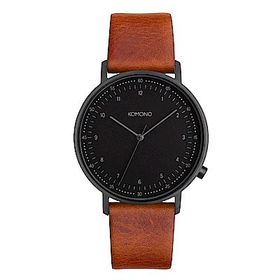 KOMONO Lewis 手錶-干邑褐/40mm
