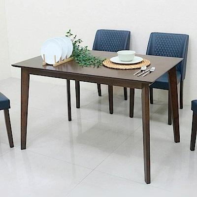 AS-爾達胡桃色4尺餐桌-120x75x75cm