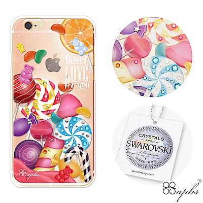 apbs iPhone6s/6 Plus 5.5吋施華洛世奇彩鑽手機殼-不給糖就...