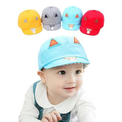 colorland【2入】童帽 小狐狸鴨舌帽遮陽帽 帽球帽