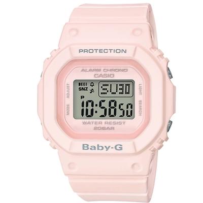 BABY-G復刻經典原型百搭流行設計休閒錶(BGD-560-4)櫻花粉色40mm