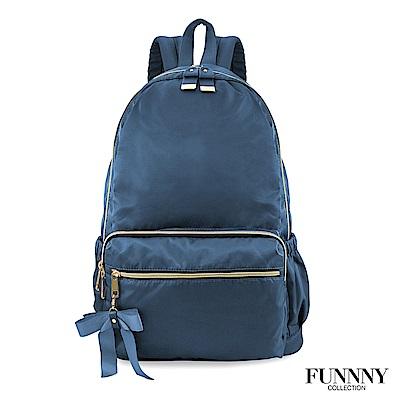 FUNNNY 日本同步輕量尼龍後背包系列 香月 實結 藍