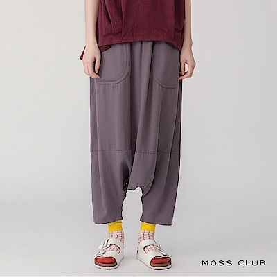 【MOSS CLUB】涼爽休閒寬鬆-長褲(共二色)