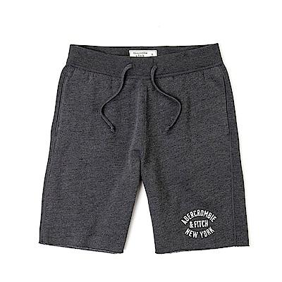 麋鹿 AF A&F 經典標誌運動休閒短棉褲-深灰色