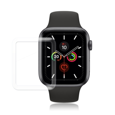 GLA Apple Watch Series 5 40mm全膠曲面滿版疏水玻璃貼
