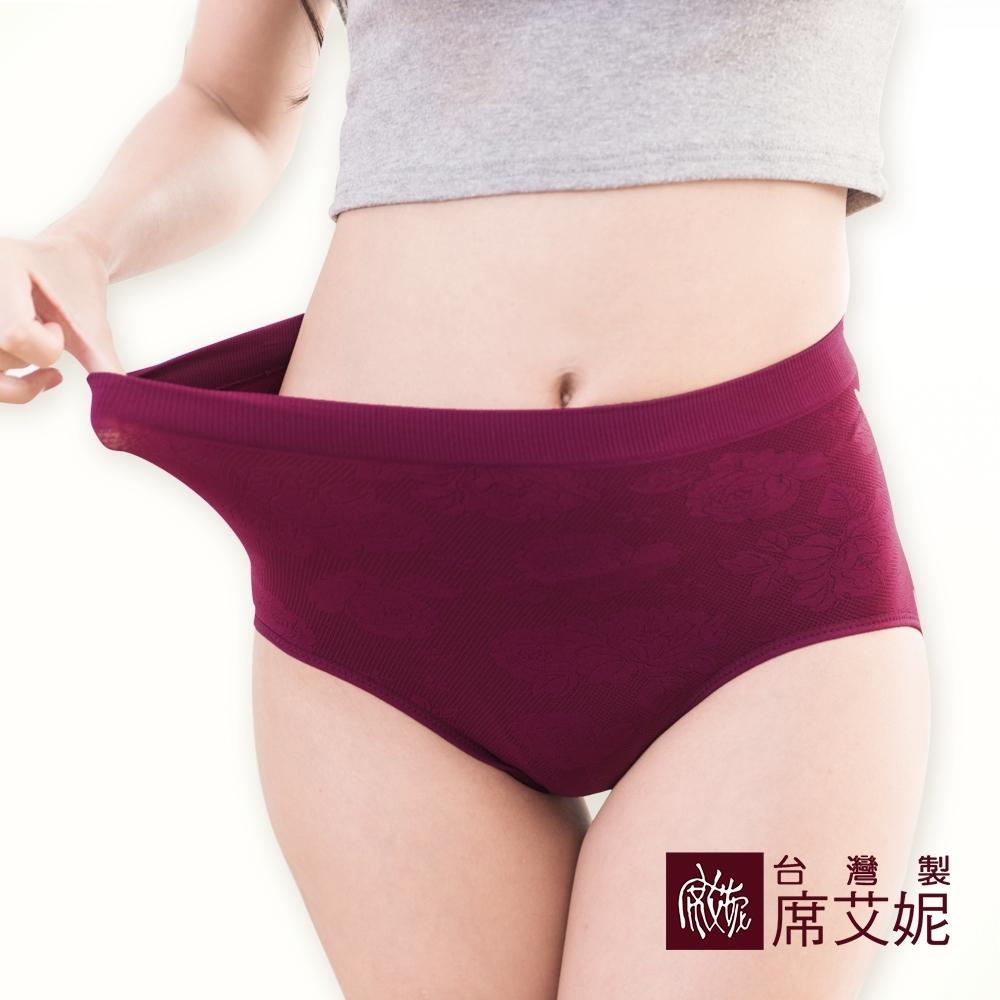 席艾妮SHIANEY 台灣製造(5件組)大尺碼彈力立體蕾絲玫瑰雕花內褲 48吋以內腰圍適穿