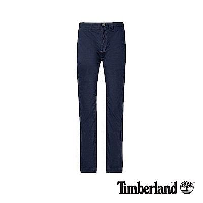 Timberland 男款深藍寶石色超輕薄彈力府綢修身經典卡其褲|A1WCK