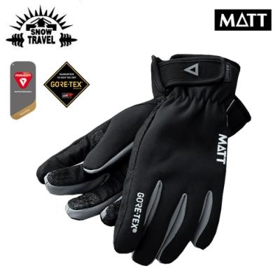 SNOW TRAVEL GoreTex防水透氣可觸控手套AR-75 黑色厚型(M/L)
