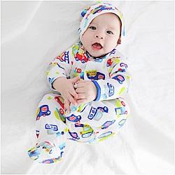 baby童衣 純棉長袖包腳連身衣附嬰兒帽 50517