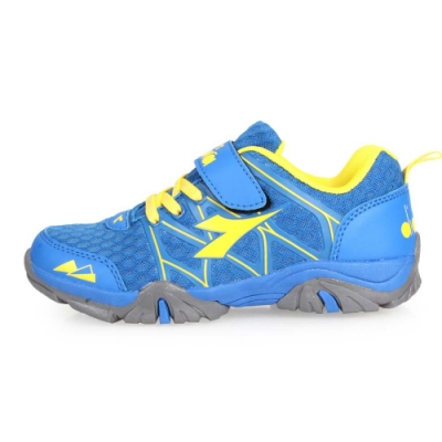 DIADORA 男女中童戶外越野跑鞋-登山 露營 童鞋 藍黃