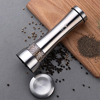 PUSH!餐廚用品 不鏽鋼陶瓷芯胡椒粒研磨器