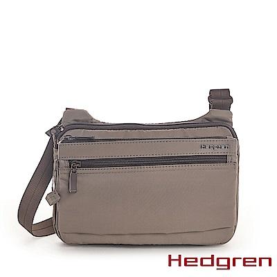 【Hedgren】INNER CITY貼身收納 側背包-亞麻灰