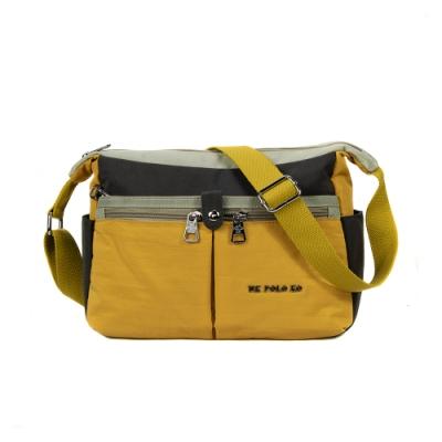 ANGIMI SHOP 斜背多口袋收納實用包 玩色邦妮-亮麗黃