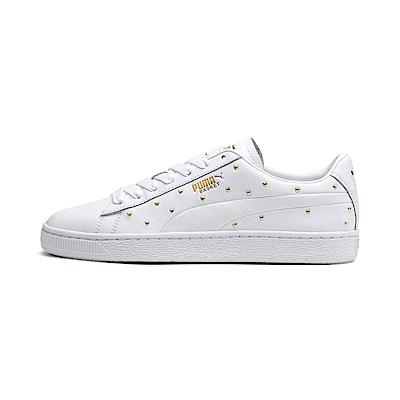 PUMA-Basket Studs Wns女籃球鞋-白色