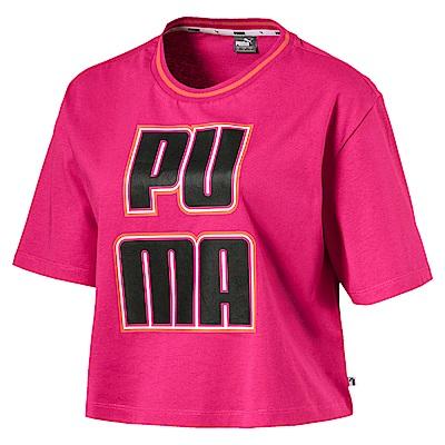 PUMA-女性基本系列Rebel Reload短袖T恤-洋桃紅-歐規