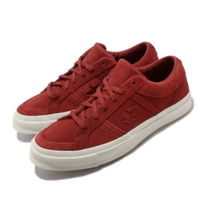 Converse 休閒鞋 One Star Academy 男女鞋 基本款 簡約 一顆星 情侶穿搭 麂皮 紅 米白 167765C