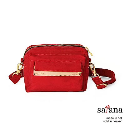 satana - Soldier 隨行斜肩包/腰包 - 紅色