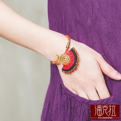 潘克拉 泰國時尚編織手鍊- 橘色