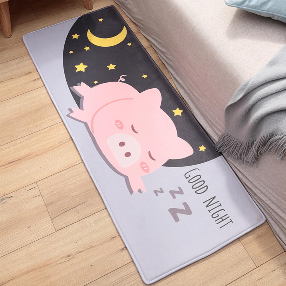 半島良品 晚安豬豬法蘭絨防滑吸水地墊 45*120cm