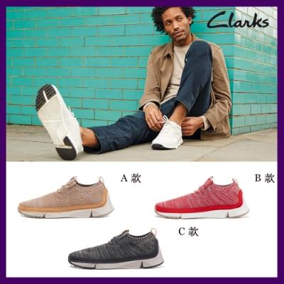 Clarks 經典三瓣底織面透氣套式休閒男女鞋 (7款任選)