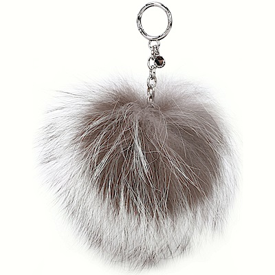 Michael Kors Fur Key Chain 混色毛球吊飾/鑰匙圈(淺咖色)