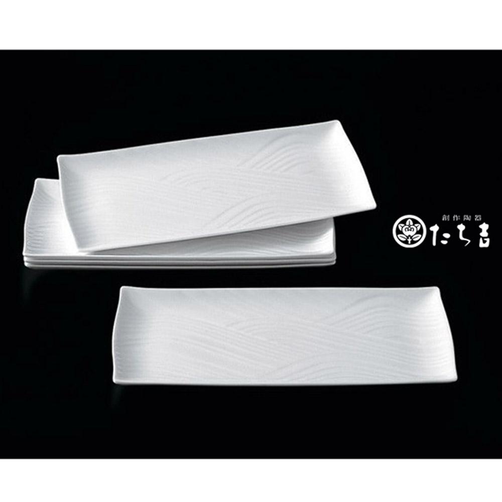 日本橘吉_白磁浪紋燒物皿(5入)