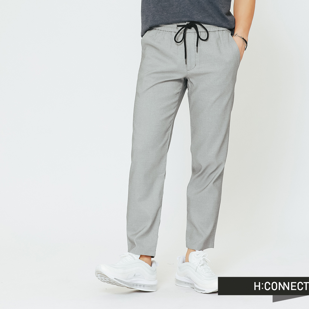 H:CONNECT 韓國品牌 男裝 -純色質感長褲-灰(快)