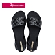 Ipanema  GO TREND菱格紋一字涼鞋-黑 product thumbnail 1