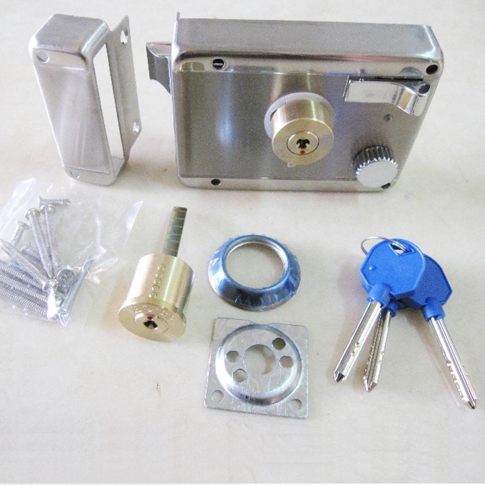 LI009 SH三段鎖 雙開 不鏽鋼 分離式三段鎖 隱藏式門鎖 大門鎖 防盜鎖 隱蔽不銹鋼