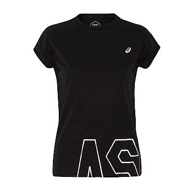 ASICS 女棉感短袖上衣(黑) 2032A891-001